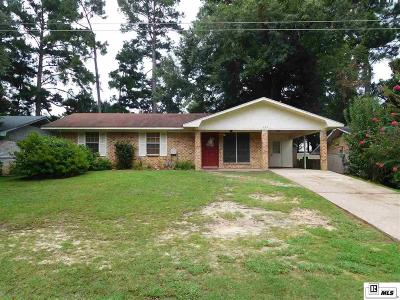 West Monroe LA Single Family Home For Sale: $109,500