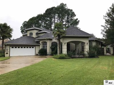 Monroe Single Family Home For Sale: 2705 Bayou Lane