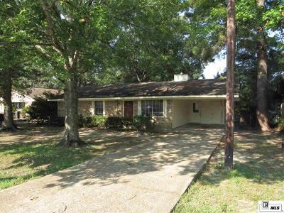 West Monroe LA Single Family Home For Sale: $109,900