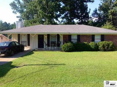 West Monroe LA Single Family Home For Sale: $132,500