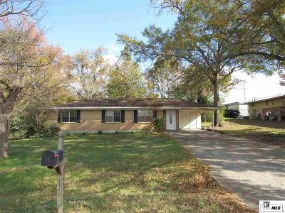 West Monroe LA Single Family Home For Sale: $115,000