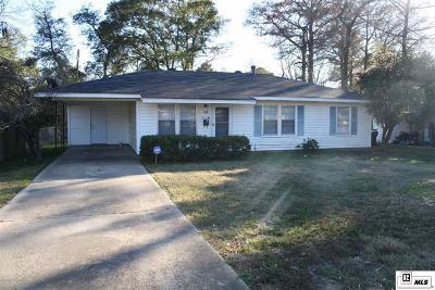 West Monroe LA Single Family Home For Sale: $103,500