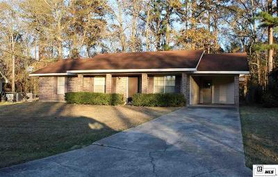 West Monroe LA Single Family Home For Sale: $114,500