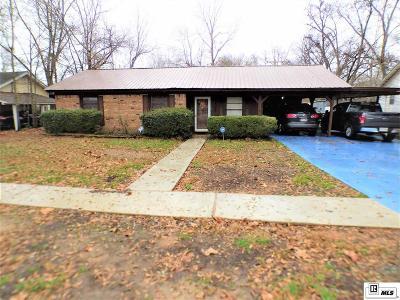 Sterlington LA Single Family Home For Sale: $120,900