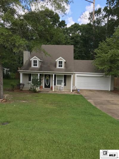 West Monroe Single Family Home Back On Market: 509 Comanche Trail