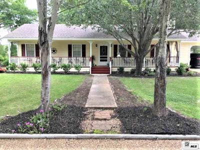 West Monroe Single Family Home For Sale: 1239 Red Cut Loop Road
