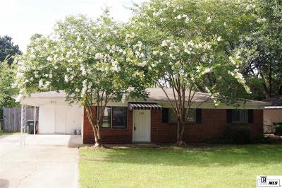 West Monroe Single Family Home For Sale: 212 Oaklawn Drive