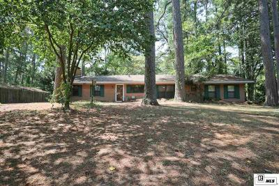 Lincoln Parish Single Family Home For Sale: 1101 Greenwood Drive