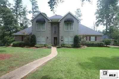 West Monroe Single Family Home For Sale: 210 Bayside Drive