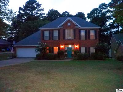 West Monroe Single Family Home New Listing: 107 Hidden Lakes Drive
