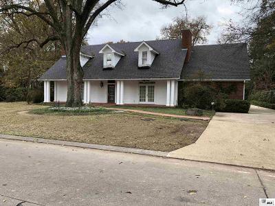 Monroe Single Family Home For Sale: 3605 Jefferson Davis Drive