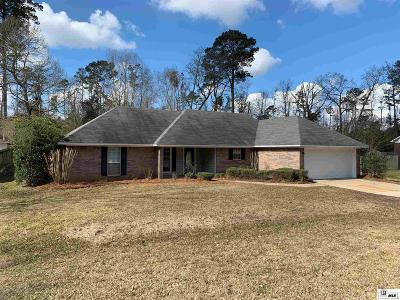 West Monroe Single Family Home Active-Pending: 107 Greenbriar Drive