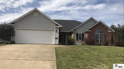 West Monroe Single Family Home New Listing: 124 Lake Powell Drive