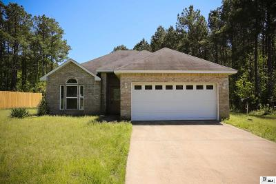 Lincoln Parish Single Family Home New Listing: 7485 Highway 80