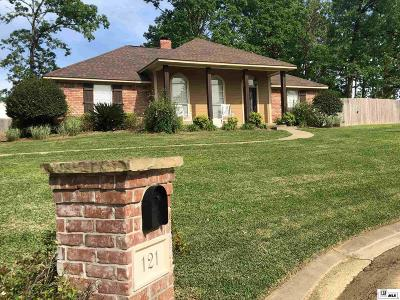 West Monroe Single Family Home New Listing: 121 Southern Oaks Drive