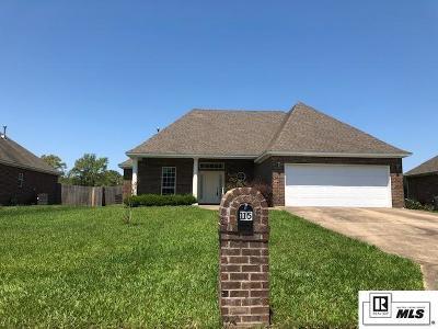 Monroe Single Family Home For Sale: 115 Luke Drive