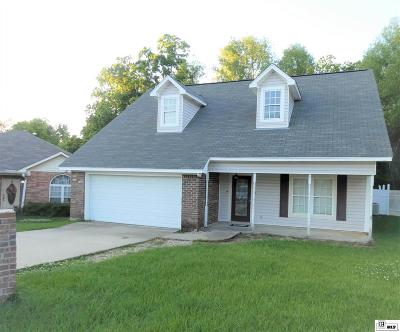 West Monroe Single Family Home For Sale: 110 Ridgedale Lake Drive