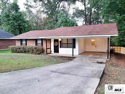 West Monroe Single Family Home New Listing: 121 Hardwood Drive