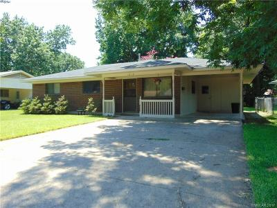 Bossier City LA Single Family Home For Sale: $110,000