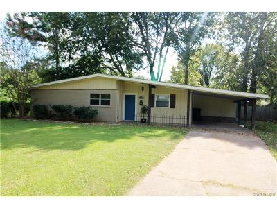 Bossier City LA Single Family Home For Sale: $133,000