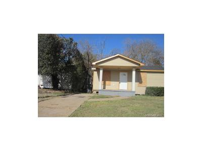 Shreveport LA Single Family Home For Sale: $69,900