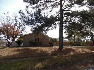 Shreveport LA Single Family Home For Sale: $90,000