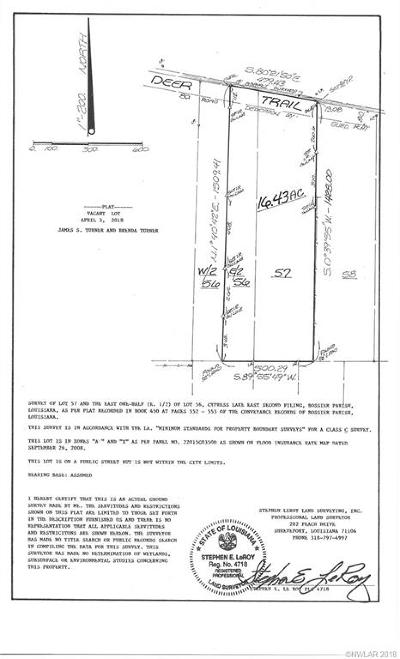 Benton LA Residential Lots & Land For Sale: $90,000
