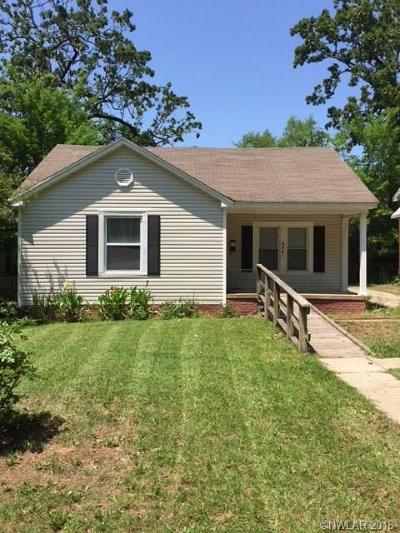 Shreveport LA Single Family Home For Sale: $89,000