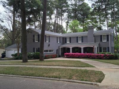 Shreveport LA Single Family Home For Sale: $595,000