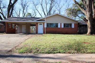 Bossier City Single Family Home For Sale: 3922 Parkway Drive