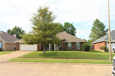 Bossier City Single Family Home For Sale: 6013 Ellington Way