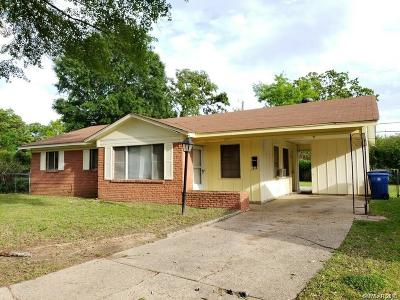 Shreveport LA Single Family Home For Sale: $27,000