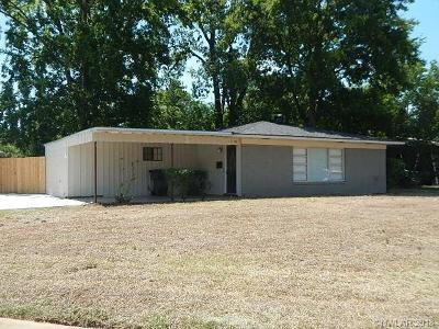 Bossier City LA Single Family Home For Sale: $124,900