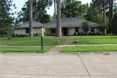 Shreveport Single Family Home For Sale: 6001 Fox Ridge