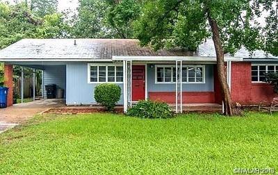 Shreveport Single Family Home For Sale: 3743 Parkway Drive