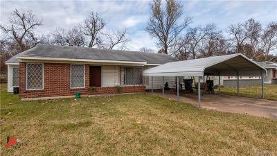 Bossier City LA Single Family Home For Sale: $68,500