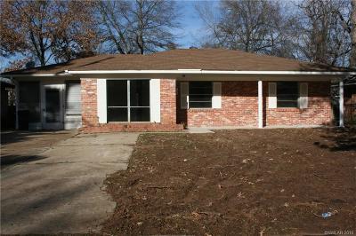Shreveport LA Single Family Home For Sale: $48,000