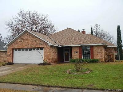 Bossier City LA Single Family Home For Sale: $143,000