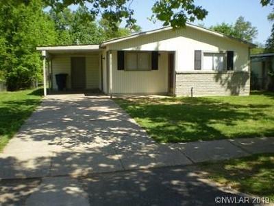Bossier City Single Family Home For Sale: 1212 Lampkin Street