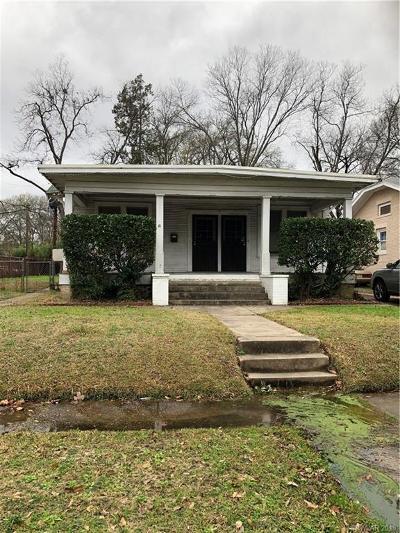 Shreveport LA Single Family Home For Sale: $45,000