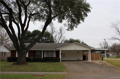 Bossier City Single Family Home For Sale: 1821 Mars Drive