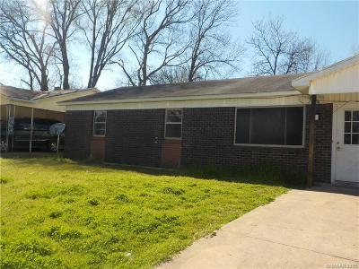 Bossier City Single Family Home For Sale: 3111 Bragg Street