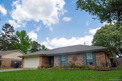 Haughton Single Family Home For Sale: 8509 Woodhill Lane