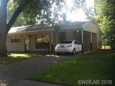 Bossier City LA Single Family Home For Sale: $115,000