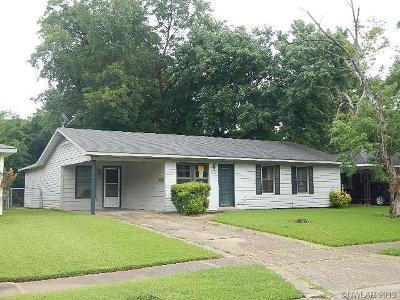 Bossier City LA Single Family Home For Sale: $45,800
