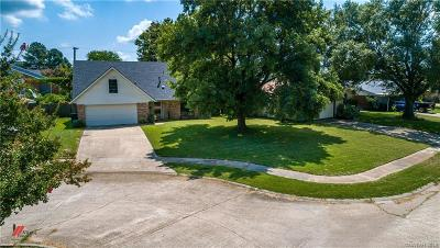 Bossier City Single Family Home For Sale: 2540 Belle Grove Drive