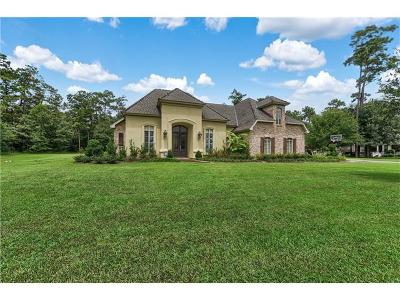 Madisonville Single Family Home For Sale: 121 Perrilloux Road