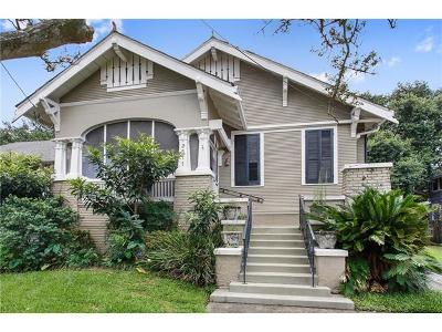 New Orleans Single Family Home For Sale: 2511 Broadway Street
