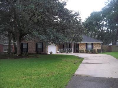 Slidell Single Family Home For Sale: 563 Manchester Drive