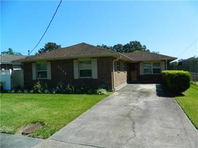 Marrero Single Family Home For Sale: 2749 Jeanne Street